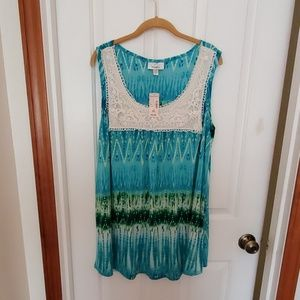 Sleeveless crochet top nwt